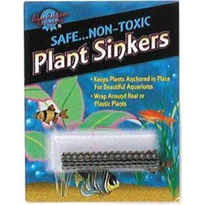 Blue Ribbon Presents Blue Ribbon (Br) Plant Sinkers 1 Pack. Safe Non-Toxic Plant Sinkers, Wrap Around Live or Plastic Plants Keeping them Weighted to the Bottom of your Aquarium. Small Carded Blister Pack. [33163]