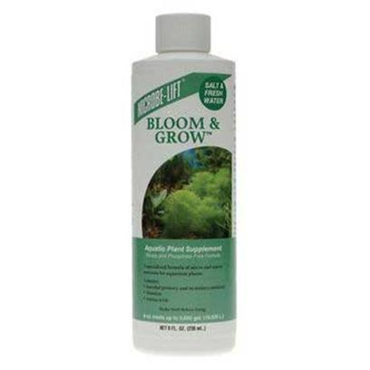 Ecological Labs (Microbe-Lift) Presents Mic Fw Bloom &amp; Grow 8oz Aquarium. Aquatic Plant Supplement Saltwater &amp; Freshwater Safe Nitrate and Phosphate -Free Formula a Specialized Formula of Micro and Macro Nutrients for Aquarium Plants Contains Essential Primary and Secondary Nutrients. Vitamins Amino Acids [33182]