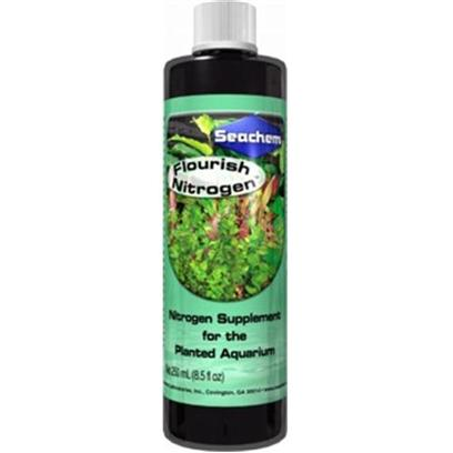 Seachem Laboratories Presents Seachem Flourish Nitrogen Plant Supplement 2 Liter. Flourish Nitrogen is a Concentrated (15,000 Mg/L) Blend of Nitrogen Sources. It Provides Nitrogen in Both the Nitrate Form and the Plant-Preferred Ammonium Form. However, no Free Ammonia is Released because the Ammonium in Flourish Nitrogen is Complexed and Unavailable Until Utilized by the Plants. Flourish Nitrogen also Provides Nitrate for Those Plants that can Readily Utilize Nitrate as Well. For Maximum Benefit Use with Flourish Phosphorus  and Flourish Potassium . [33203]