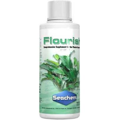 Seachem Laboratories Presents Seachem Flourish Plant Nutrients 100ml. Flourish is a Comprehensive Plant Supplement for the Natural Freshwater Aquarium. It Contains a Rich Assortment of Important Micro Elements, Trace Elements and Other Nutrients. These Include Calcium, Magnesium, Iron and Other Important Elements that have been Shown to be Beneficial to Aquatic Plants. View a Chart of Flourish Constituents and Signs of their Deficiency. For Macro Element (Npk) Fertilization, Use Flourish Nitrogen, Flourish Phosphorus or Flourish Potassium as Needed. [33216]