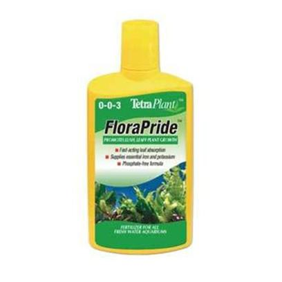 Tetra Usa Presents Tetra Flora Pride 8.45oz. Florapride is a Fertilizer for all Aquatic Plants and Promotes Lush, Leafy Growth of Both Floating and Rooted Plants through a Combination of Nutrients Including Potassium and Iron. Florapride does not Contain Phosphates or Nitrates. Live Plants Help Benefit Aquariums by Helping to Recycle and Balance Nutrients and Provide Shelter, Comfort and Hiding Places for Fish. Live Plants can also be Sustainable Food Source for Foraging Fishes and Provide Another Level of Beauty, Excitement and Evolution to a Healthy Aquarium. [33233]
