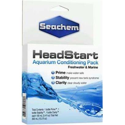 Seachem Laboratories Presents Seachem Headstart Conditioner Condiotioner Pk-100ml. Headstart Conditioners Pack Combines Prime, Stability and Clarity into One Convenient Pack. Great for any Aquarist but Ideal Ofor Beginner. 3 X 100 Ml/ 3.4 Fl Oz [33241]