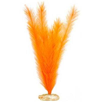 "Blue Ribbon Presents Plant-Soft Foxtail (Brite Orange) Mini. Br Colorburst Plant Small 7 to 8"" Tall - Soft Foxtail with Soft Silk-Style Leaves that Sway Naturally in Water. [33305]"