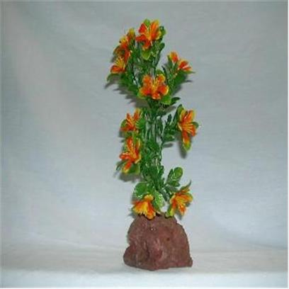 Rocky Mountain Plants Presents Rocky 1 Color Lava Plant #Wf-1 Small 4-5' on Rock. Mounted on Solid Weighted Bases Make these Plants Suitable for the Aquarium or Terrarium. Green Eel Grass 12&quot;-13&quot; on White Rock. 9&quot;-10&quot; [33371]