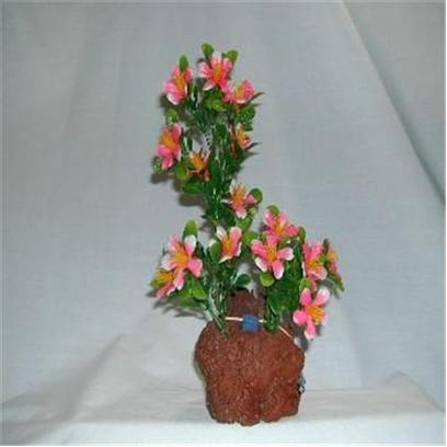 Rocky Mountain Plants Presents Rocky Air Color Lava 2 Plants #Mb-2 Aerating Double Plant 9-10' on Rock. Mounted on Solid Weighted Bases Make these Plants Suitable for the Aquarium or Terrarium. Green Eel Grass 12'-13' on White Rock. 9'-10' [33379]