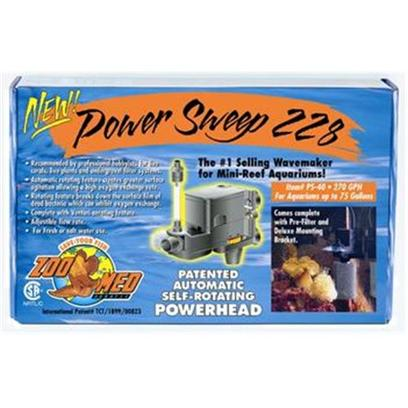 Zoo Med Laboratories Presents Zoo Power Sweep Head 226 (Max 190gph). Unique 180 Degree Rotating Head Great for Use as a Wave Maker in Marine Tanks! Increases Efficiency (I.E. Flow Rate) of Undergravel Filters. Automatic Rotating Feature Creates Greater Surface Agitation Allowing a High Oxygen Exchange Rate. Excellent for Live Aquarium Plant Tanks Comes Complete with Venturi Aerating Feature. Adjustable Flow Rate 200-270gph [33710]