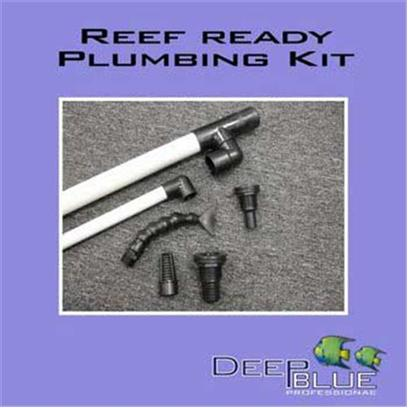 Deep Blue Professional Presents Deep Blue Professional (Db) Reef Ready Plumbing Kit Db 30'. Universal Reef Ready Plumbing Kit. Fits all Overflow Pre-Filter Systems which Accommodate 1' and 3/4' Bulkheads. Bulkheads Equipped with Double Gaskets! Includes Drain & Return Pipes 1-1/4' to 1' Reducer Fitting 3/4' Elbow Fitting Adjustable Return Nozzle 1' Barbed Bulkhead Fitting 3/4' Barbed Bulkhead Fitting 1' Strainer Fitting [33776]