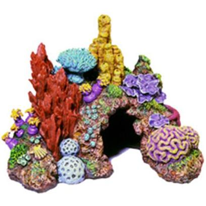 Blue Ribbon Presents Blue Ribbon (Br) Caribean Living Reef Small. &quot;Colorful Caribbean Reef Replica Features Aeration Holes and 2 Large Swim-through Chambers - Realistic in Detail, Featuring a Colorful Array of Exotic Sea Life&quot;Hand-Painted and Produced from Safe and Durable Poly-Resin. 7.5 X 5.5 X 5.5 1 [33879]