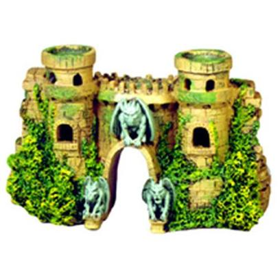 Blue Ribbon Presents Blue Ribbon (Br) Castle Fortress with Gargoyles Resin Ornament-Castle 10 X 3.5 5.5'. Features New Gargoyle Sentinels and is Authentically Hand-Painted and Crafted in Realistic Detail...Ideal for all Aquariumshand-Painted in Realistic Detail. Ideal for all Aquariums 10.0 X 3.5 X 5.5 1 [33884]