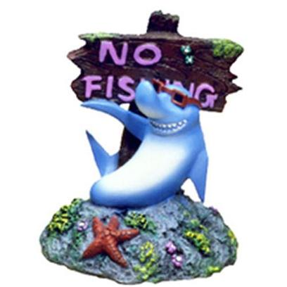 "Blue Ribbon Presents Blue Ribbon (Br) Cool Shark no Fishing Sign Shark-No. ""Cool Shark Points the Way, and is Safe for Freshwater & Marine Environments""""Safe for Freshwater, Terrarium & Marine Environments"" 3 X 3 X 3.5 1 [33899]"