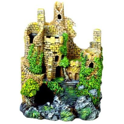 "Blue Ribbon Presents Blue Ribbon (Br) Forgotten Ruin #113 Resin Ornament-Forgotten 7 X 5 10'. ""Authentic Castle Ruin, Hand-Painted in Realistic Detail ""Featuring Large Swim-through Chambers which Fish Love to Explore 7.0 X 5.0 X 10.0 1 [33904]"