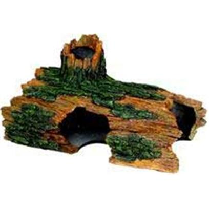 Blue Ribbon Presents Blue Ribbon (Br) Jumbo Hollow Log Resin Ornament-Jumbo. Ideal for Aquariums & Terrariums. Large Swim through Holes. [33937]