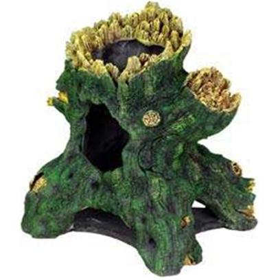 Blue Ribbon Presents Blue Ribbon (Br) Jumbo Hollow Tree Stump Resin Ornament-Jumbo. Ideal for Aquariums & Terrariums. Large Swim through Holes. [33939]