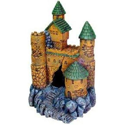 Blue Ribbon Presents Blue Ribbon (Br) Jumbo Large Castle Resin Ornament-Jumbo. Ideal for Aquariums & Terrariums. Large Swim through Holes. [33940]