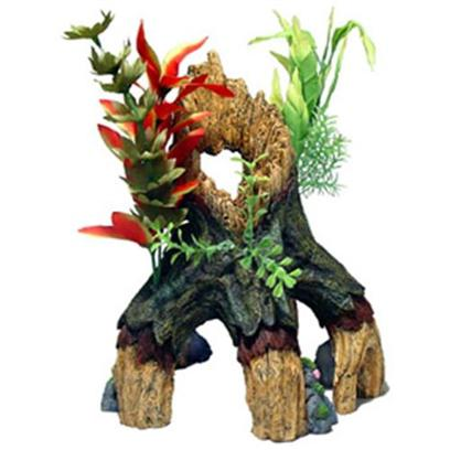 Blue Ribbon Presents Blue Ribbon (Br) Large (Lg) Floral Mangrove Tree Trunk (Large). Our Large Provides the Perfect Decorative Shelter for all Aquarium Fish and Reptiles Alike. Hand-Painted in Realistic Detail and Safe for all Aquariums.Large Swim-through Chambers. Durable Poly-Resin is Safe for Freshwater & Marine Aquariums. 10 X 9.5 X 12 1 [33951]