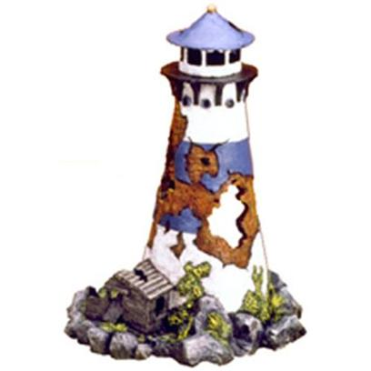 Blue Ribbon Presents Blue Ribbon (Br) Lighthouse Ruin Resin Ornament-Lighthouse 6.5 X 6.0 9'. &quot;Lighthouse Ruin Features Aeration Holes, and Swim-through Chambers&quot;Made from Durable Poly-Resin and Safe for all Aquariums 6.5 X 6.0 X 9.0 1 [33957]