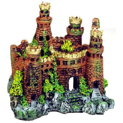 Blue Ribbon Presents Blue Ribbon (Br) Medieval Castle #131 Resin Ornament-Medieval 7.5 X 5 7'. &quot;Authentic Castle Ruin, Hand-Painted in Realistic Detail &quot;Featuring Swim-though Chambers and Hand-Painted Realistic Detail 7.5 X 5.0 X 7.0 1 [33961]