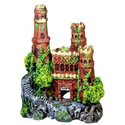"Blue Ribbon Presents Blue Ribbon (Br) Medieval Castle #133 Resin Ornament-Medieval 8 X 5 11'. ""Authentic Castle Ruin, Hand-Painted in Realistic Detail ""Featuring Swim-though Chambers and Hand-Painted Realistic Detail 8.0 X 5.0 X 11.0 1 [33962]"