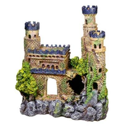 "Blue Ribbon Presents Blue Ribbon (Br) Medieval Castle #135 Resin Ornament-Medieval 11.5 X 5.5 12'. ""Authentic Castle Ruin, Hand-Painted in Realistic Detail ""Featuring Swim-though Chambers and Hand-Painted Realistic Detail 11.5 X 5.5 X 12.0 1 [33963]"