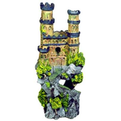"Blue Ribbon Presents Blue Ribbon (Br) Medieval Castle Tall #143. ""Authentic Castle Ruin, Hand-Painted in Realistic Detail ""Authentically Hand-Painted Medieval Castles with Colorful Towers 5.0 X 4.5 X 12.0 1 [33965]"