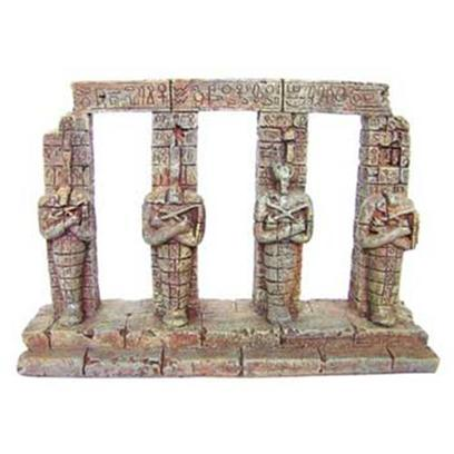 Aquatic Creations Presents Zan Ornament-4 Sarcophagi Resin Columns. 4 Sarcophagi is a Must have Ornament to Go with any of Zanusa's Ancient Ruins or Sunken Ships. Nothing Inspires Intrigue and Mystique Like the Sarcophagi of Ancient Times. 6.9&quot; X 1.8&quot; X 5.5&quot; [34149]