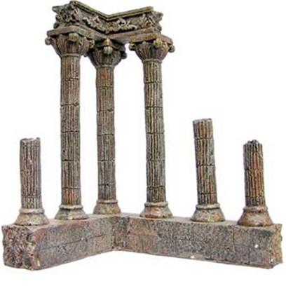 "Aquatic Creations Presents Zan Ornament-6pc Crnr Column Resin Corner. Corner Columns are Perfect for any of your Aquarium's Corners. The Ancient Look of Fallen Columns Gives an Extravagant Appeal Centuries Old. 10"" X 8.3"" X 6.5"" [34152]"