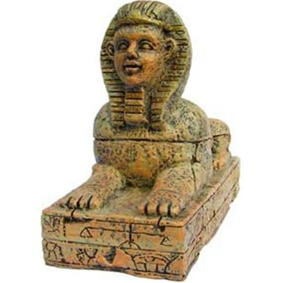Aquatic Creations Presents Zan Ornament-Med Sphinx Resin Ornament-Medium. Zanusa's Sphinx is Symbolic of Egypt's Guardian of Royalty. This Mythological Creature Demands Attention and Displays a Dominant Presence in your Aquarium. The Detail is Magnificent and will be an Excellent Display in any Aquarium. 8.2&quot; X 5.9&quot; X 3.3&quot; [34171]