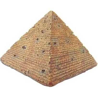 Aquatic Creations Presents Zan Ornament-Pyramid Resin. Zanusa's Pyramid will Intrigue your Aquarium's Admirerers. Great Detail for Each Block is Hand Carved and Painted for the Most Realistic Appearance. The Pyramid will Enhance your Aquarium's Plants and Create an Intriguing Appeal. 6.3&quot; X 6.3&quot; X 4.9&quot; [34172]