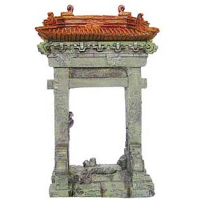 Aquatic Creations Presents Zan Ornament-Sunken Temple Resin 1. Sunken Temple 2 is Excellent for any Aquarium. This Ornament will Go Well with any Plant to Create an Retreat Like Setting. 5.1&quot; X 3.75 X 7.9&quot; [34176]