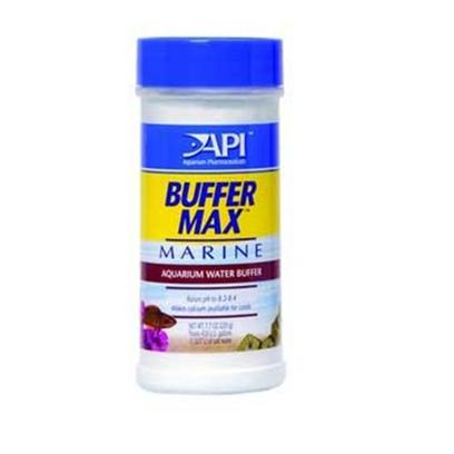 Aquarium Pharmaceuticals Presents Aquarium Pharmaceuticals (Ap) Buffer Max Marine 220g. Aquarium Water Buffer that Raises Ph to 8.2-8.4. Also Makes Calcium Available for Corals. Buffer Max Marine is an Aquarium Water Buffer that Raises Ph to 8.2-8.4, and also Makes Calcium Available for Corals. 220g Treats 430 Gallons (1627 L) 2.13&quot; X 2.13&quot; X 5&quot; 0.74 Lb [34219]
