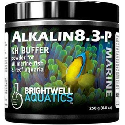 Brightwell Aquatics Presents Brightwell Aquatics (Bwell) Alkalin8.3 Alkalin 8.3 Liquid Ph Buffer 8.5oz 500ml.  Highly-Effective Alkalinity-Increasing (&quot;Buffer&quot;) Powdered Blend.  Helps Increase Ph Stability in an Aquarium by Raising the Alkalinity; Continued Addition Raises Ph Until 8.3 is Reached, at which Point the Ph Remains Unchanged and the Alkalinity Alone Increases.  Provides a Source of Carbonates, which Make Up the Majority by Weight of Aragonite, the Mineral Secreted by Reef-Building Organisms as Skeletal Material.  Formulated by a Marine Scientist. Powder 250-G [34259]