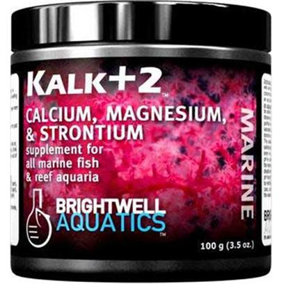 Brightwell Aquatics Presents Brightwell Aquatics (Bwell) Kalk+2 Dry Kalkwasser 7.9oz 225gm. The Calcium-Bearing Component of a Two-Part Method for Dosing Calcium and Carbonates (the Substances Largely Responsible for Increasing Alkalinity ('Buffering Capacity')in the Same Ratio as that Found in Natural Seawater. Ionically-Balanced with Respect to Natural Seawater Concentrations of Calcium and Carbonates when Used in Equal Amounts with Reef Code B. Benefits Reef-Building Organisms Such as Corals, Clams, Calcareous Algae, Etc. Simplifies Calcium and Alkalinity Maintenance. Stronger than Most Competing Products. Contains no Phosphate, Silicate, or Organic Material. Formulated by a Marine Scientist. [34279]