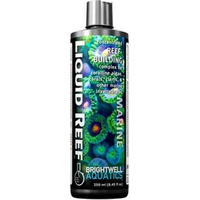 Brightwell Aquatics Presents Brightwell Aquatics (Bwell) Liquid Reef Building Complex 17oz 500ml.  Complete Source of the Elements and Molecules that are Directly Used by Corals, Clams, and Other Reef- Building Invertebrates and Organisms to Create Skeletal Material and Grow.  Provides Calcium (140,000 Ppm), Strontium, Magnesium, and Potassium in Approximately the Same Ratios* in which they Occur in Aragonite.  Very Strong Source of Carbonates (Derived from Aragonite), the Other Important Group of Ions Involved in Aragonite Formation.  Increases Alkalinity to Help Stabilize Ph.  Stronger than Competing Products.  may be Used as an Inexpensive Alternative to Automated Calcium Reactor Systems with Similar Results.  Free of Phosphate, Silicate, and Organic Material.  Formulated by a Marine Scientist. Liquid 250-Ml [34285]