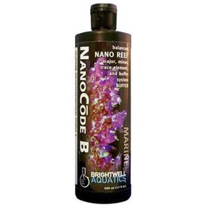 Brightwell Aquatics Presents Brightwell Aquatics (Bwell) Nanocode B Liquid Nano Code Part 17oz 500ml. Part of a Complete System for Simplifying and Maintaining Proper Water Chemistry in Very Small (Nano) Reef Aquaria. Nanocode B Provides Molecules that Increase Ph Stability and Form an Integral Part of Aragonite, the Mineral that is Secreted by Reef-Building Organisms. Used in Conjunction with Nanocode a, Promotes Stable Water Chemistry and Improves Rate of Biogenic Aragonite Formation. Contains no Phosphate, Silicate or Organic Material. Iodide in not Present as it is Unsuitable for Indiscriminate Dosing. [34301]