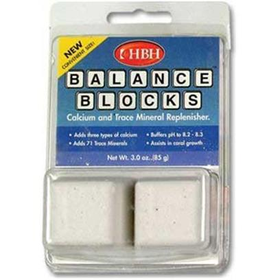 Hb.H. Enterprises Presents Hbh Balance Blocks 16 Pack (Carded). Balance Blocks Stabilize Ph Levels of Salt Water and Reef Aquariums to Match Those of the Ocean. Balance Blocks Slowly Dissolve, Releasing Calcium and 71 Vital Trace Minerals for Use by Fish and Other Organisms Present in Reef Aquariums [34371]