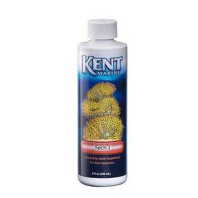 Kent Marine Presents Kent Marine (Kent) Tech Iodine 8oz. Kent Marine Tech•I is the Most Significant Breakthrough in Marine Additive Technology in the Last Five Years! Although Present in Salt Mixes, Iodine is Rapidly Used Up in the System, and Removed through Protein Skimming, Ozone and Filtration. Whereas Other Iodine Supplements only Last a Few Days, Tech•I Iodine Supplement Provides Iodine in a Unique Triple Release System for Sustained Availability to Invertebrates over Weeks of Time • Provides Free Iodine, Iodide and Timed Release Iodide • Hobbyists Report Reproduction in Corals that have not Previously Reproduced and Increased Growth Rates in Sensitive Hard and Soft Corals. • Keeping Xenia is Much Easier • Corals Open Fuller and Grow Faster than Ever Before!• Assists Hard Corals and Helps Prevent Bleaching! Kent Marine Tech•I is an Exciting Product! It will Revolutionize the Keeping of Difficult Marine Invertebrates! Considerations for Use Tech•I Provides Free Iodine and Iodide Immediately, and a Timed Release System which Continues to Provide Available Iodide over Many Weeks. Test Kits will not Read the Timed Release Iodide, and may not Register the Free Iodine. Do not Exceed the Recommended Dosage without Testing, and do not Exceed Seawater Level of Either Iodine or Iodide if Measuring with a Kit. Carefully Observe Animals while Using. If Negative Reactions are Noted, Discontinue Use, and Resume a Week Later at Half Dose. (Actually Iodine/Iodide Testing is Unnecessary, just Dose as Directed). If you Plan to Use Tech•I Iodine Supplement while Ozone is in Use, be Careful. The Ozone can Release all of the Iodine in Tech•I at Once, so Carefully Observe your Animals on a Daily Basis, and Discontinue Use, if Necessary. Tech•I is Designed for Use by Experienced Hobbyists, who are Able to Judge Negative Reactions by Inhabitants. If you are Inexperienced or Use Ozone, and you Want to be Totally Safe, Use Concentrated Iodine Supplement Instead of this Product! Kent Marine Essential Elements and Coral-Vite should be Used Simultaneously with the Tech I to Replace Those Minerals Lost in Protein Skimming and Filtration and Used Up by Corals and Other Invertebrates. Calcium should be Added Via Kalkwasser Mix, Concentrated Liquid Calcium or Turbo Calcium. Tanks with Heavy Coral Populations Require Additional Strontium to that which is in the Coral-Vite. Use Strontium & Molybdenum Supplement or Turbo Strontium for This. Macro Algae will Require the Iron Supplement, as Well. Live Corals Require Strong Lighting of Proper Spectrum and Immaculately Clean Systems. Regular Water Changes are Encouraged. Use Kent Marine Superbuffer-Dkh to Control Alkalinity and Prevent Ph Swings. [34459]