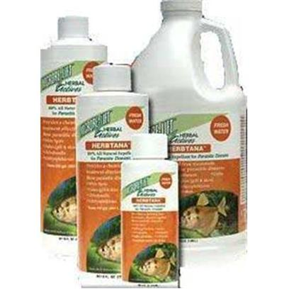 Ecological Labs (Microbe-Lift) Presents Mic Herbtana Fw Freshwater 8oz. 100% Natural Expellant for Parasitic Diseases Provides a Chemical-Free Treatment Effective Against these Parasitic Diseases White Spot (Ich) Costia Flukes (Gill &amp; Skin) Trichodina Chilodonella Oodinium Supports the Fish's Immune System, Driving off the Excess Parasites. Since they Cannot Return to the Fish During Treatment, the Majority of the Parasites will Starve without a Host. This Product is Intended for Use with all Ornamental and Aquarium Fish only, and may not be Used for Fish Intended for Human Consumption. [34478]