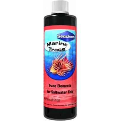Seachem Laboratories Presents Seachem Marine Trace 250ml. Seachem Marine Trace Supplies a Broad Range of Trace Elements Demonstrated to be Necessary for Proper Fish Health and Growth. Unlike Terrestrial Animals, Fish Obtain Nutrients from Both their Food and Environment. Trace Elements are Normally Depleted by Utilization, Oxidation and Precipitation, Thus it is Important to Restore them on a Regular Basis. Marine Trace Contains only Those Elements Actually Demonstrated to be Required by Fish. [34521]