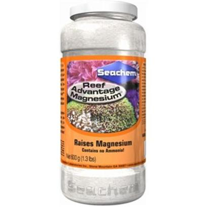 Seachem Laboratories Presents Seachem Reef Magnesium Advantage 300gm. Reef Advantage Magnesium™ is a Concentrated (80,000 Ppm) Optimized Blend of Magnesium, Chloride, and Sulfate Salts Designed to Restore Depleted Levels of Magnesium with Minimal Impact to the Ionic Ratios Found in Natural Sea Water. Sizes 20 Kg [34570]