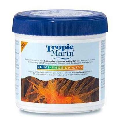 Tropic Marin Presents T Marin Elimi Phosphate Elimi-Phos 200 Gram 7oz. Special Granular with Very High Capacity Offering Especially Long Lasting Absorption. Very Effective Dry Ferric Oxide Hydroxide Adsorbs Phosphates from Saltwater and Freshwater. Also Adsorbs Silicates and Dissolved Organics. Easy and Proper Handling without 'Leaching' Effects. Easy-to-Use Bags ('Quick &amp; Clean') Included. For the Removal of Phosphates in Saltwater and Freshwater Aquaria. Tropic Marin Elimi-Phos Contains Highly Effective Granules for the Removal of Phosphates and Organic Pollutants in Saltwater and Freshwater Aquaria. It is Especially Recommended to Prevent Unwanted Algae Growth. Phosphates Become so Strongly Bonded to the Elimi-Phos Granules, that it will Never be Released, Even After the Full Absorption Capacity of the Elimi-Phos is Reached. Easy-to-Use Bags ('Quick &amp; Clean') Included. [34608]