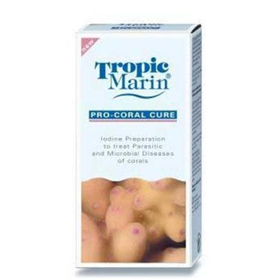 Tropic Marin Presents T Marin Pro Coral Cure 200ml. Iodine Preparation to Treat Parasitic and Microbial Diseases of Corals. It is Recommended to Preventively Treat all Newly Purchased Acropora Corals with Pro-Coral Cure and to Apply Pro-Coral Cure to all Corals which are Attacked by Flatworms. [34611]