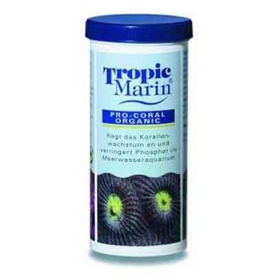 Tropic Marin Presents T Marin Pro Coral Organic 7oz Bio-Coral. Promotes Growth of Anthozoa and Reduces Phosphate Levels. Supplies Readily Available Nitrogen Compounds and Balances Nutrient Levels. When Sufficient Trace Elements are Present, Anthozoans will Absorb Nitrogen and Phosphates, just Like in the Ocean. With Regular Additions of Pro-Coral Organic the Polyps of Anthozoa Become More Engorged and Open. [34612]