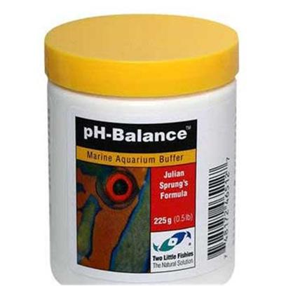 Two Little Fishies Presents Tlf Ph-Balance Ph Balance 225gm (1/2lb). Ph-Balance Marine Aquarium Bufferthe Ph of Seawater in the Open Ocean is Stable, Normally Between 8.0 and 8.3due to the Carbonate-Bicarbonate Buffering System. In Tide Pools and Aquariums the Ph can Vary More Widely Due to the Influence of Respiration and Photosynthesis in the Restricted Bodies of Water. In an Aquarium with no Illumination it is Normal for the Ph to Drop Temporarily Due to Respiration of Co2 in the Absence of Photsynthesis. [34629]