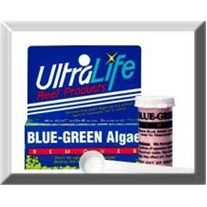 Ultralife Reef Presents Ultra Blu-Grn Algae Remover Blue-Green. Don't Let Ugly 'Blue Green Algae' Destroy the Beauty and Delicate Balance of your Freshwater Aquarium. Now you can Finally Remove that Unsightly Blue Green Algae Quickly without Harm to Freshwater Fish or Plants. Simple Add 'Blue Green Algae Remover' and Watch the Brilliant Colors Come Back to your Aquarium as the Blue Green Algae Disappears. Truly a Product you should not be Without. Blue Green Algae Remover 125 Gal Treatment [34645]