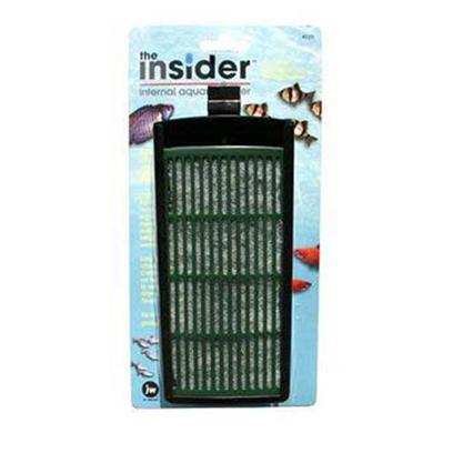 Jw Pet Company Presents Jw Pet Company (Jw) Insider Internal Filter. The Insider Internal Filter by Jw Aquatics is an Efficient Internal Filter for Small Tanks Designed with Innovative Features that will Keep your Tank Clear and Clean. This Functionally Designed Filter Offers an Easy to Replace Slide out Floss and Carbon Cartridge. Another Unique Feature to the Insider is the Hanger Attachment. Not only will the Hanger Attachment Fit under an Aquarium Hood and Hold the Insider Tightly in Place, it also has the Ability to Adjust the Height of the Filter to Allow for Different Water Levels. Inner Pack 6 Case Pack 48 [34657]