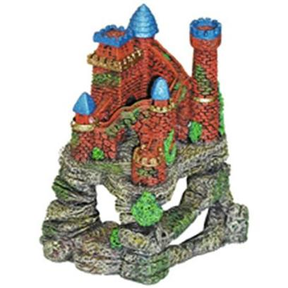 Blue Ribbon Presents Blue Ribbon (Br) Castle Fortress Cavern. Our Coral Fortress Sits Atop an Array of Large Swim-through Caverns and Caves and is Hand-Painted in Realistic Detail. Safe for all Aquariums.Featuring Large &amp; Deep Caverns for your Aquatic Pets to Explore 6 X 5 X 7 1 [34707]