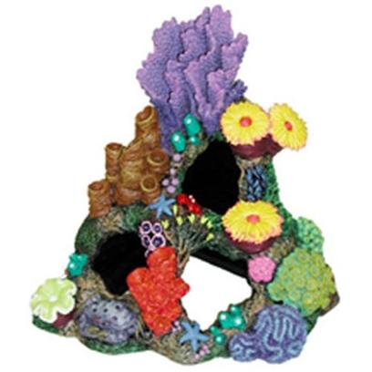 Blue Ribbon Presents Blue Ribbon (Br) Indonesian Reef Cavern. This Magnificent Creation can also be Positioned into the 90 Corner of the Aquarium. Colorful Exotic Sea Life and Large Swim-through Caverns and Caves.Featuring Large & Deep Caverns for your Aquatic Pets to Explore 9 X 7 X 8 1 [34714]