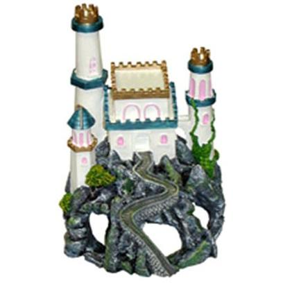 "Blue Ribbon Presents Blue Ribbon (Br) Princess Castle Cavern Resin Ornament-Princess. ""This Majestic Pearl White Princess Castle, Sits Atop an Array of Large Swim-through Caverns and Caves. Safe for all Aquariums.""Featuring Large & Deep Caverns for your Aquatic Pets to Explore 6 X 7 X 8 1 [34715]"