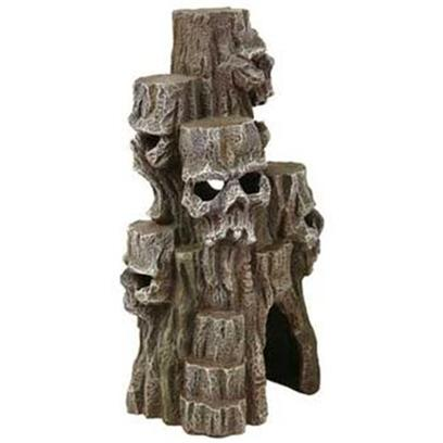 Blue Ribbon Presents Resin Ornament-Skull Mountain Tall-Grey. Skull Mountain Tall Grey - Skeleton Heads Eerily Carved Right into the Side of a Tall Mountain Scape, how Much More Could you Ask for in Scary? A Cool &amp; Creepy Addition to any Aquarium or Terrarium. [34717]