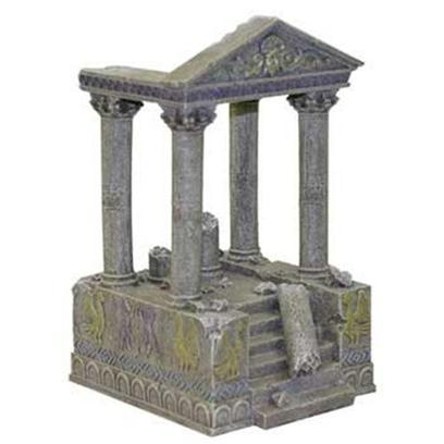 Blue Ribbon Presents Resin Ornament-Temple Ruins & Steps Temple. Temple Ruins & Steps - these Stone Temple Ruins & Steps will Create an Underwater Landscape Right out of Ancient Greece. A Great Addition for your Planted Aquarium or Terrarium. [34724]